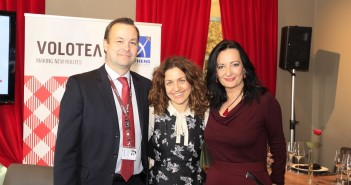Edo Friart, International Development Manager, VOLOTEA, Valeria Rebasti, Commercial Country Manager for Italy and Greece, Ioanna Papadopoulou, PR & Communications Manager AIA