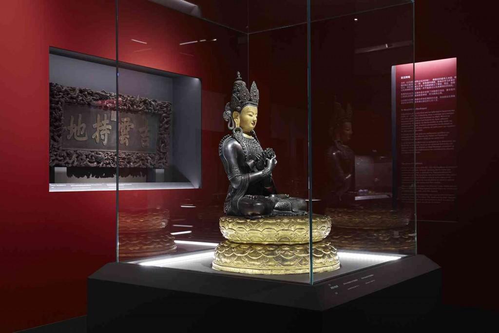 Χάλκινο αγαλμάτιο του αρχέγονου Βούδα Vajradhara Δυναστεία Qing, Βασιλεία Qianlong (1735 – 1796)